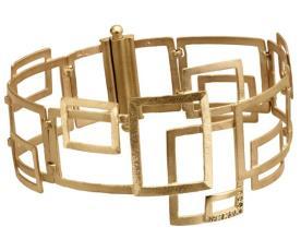 צמיד זהב בעיצוב גיאומטרי