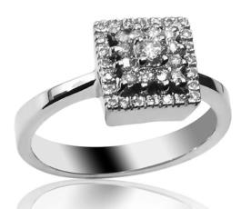טבעת אירוסין גיאומטרית מעוצבת