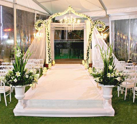 עיצוב חופה לחתונת חורף במתחם גן אירועים עדיה