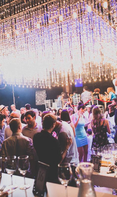 מרחב גדול למסיבת הריקודים בחתונה