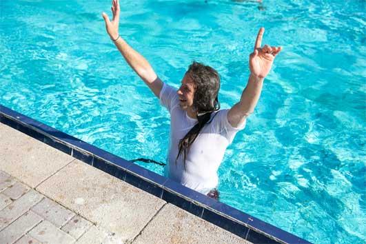 הבריכה בגן מעלה החמישה