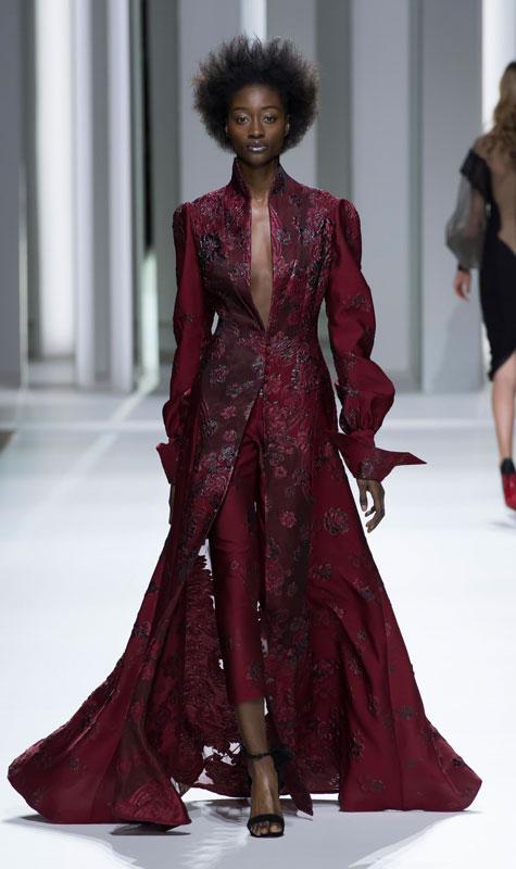 שמלת ערב בצבע בורדו