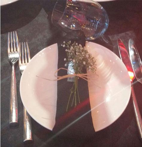 'מיני' זר כלה לעיצוב השולחן