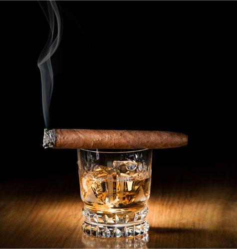 ערכת הישרדות לגבר בחתונה, כולל סיגרים ומשהו לשתות...