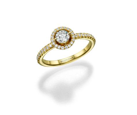 טבעת יהלום צהובה