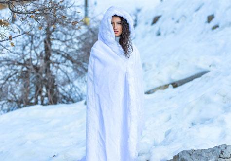 צילומי חתונה על רקע השלג