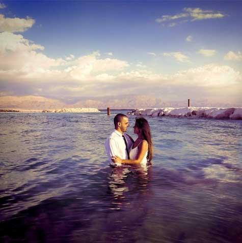 צילומי חתן כלה בים המלח