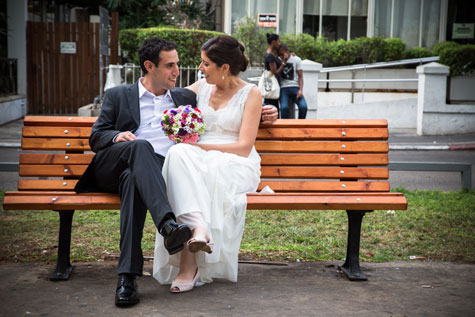 רגעי המנוחה שדל רגע לפני החתונה...
