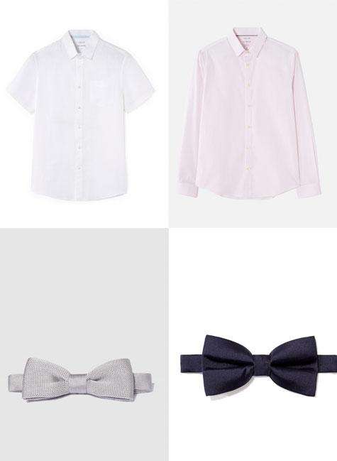 חולצות בהירות עם או בלי פפיון