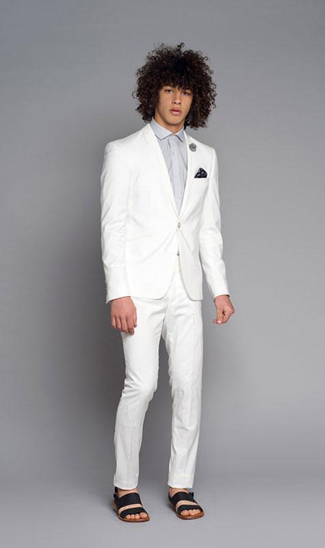 חליפת חתן לבנה קלאסית