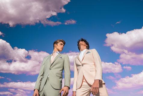 חליפות גברים בצבעי פסטל רכים