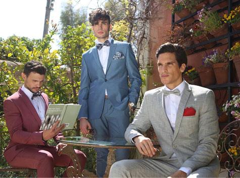 חליפות חתן בכחול ואדום