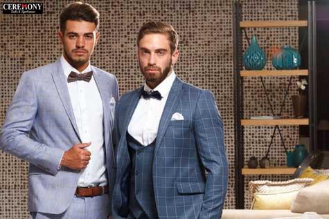 חליפות חתן בצבעי הכחול על גווניו