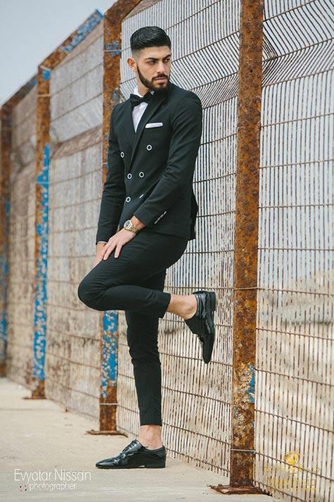 חליפת חתן שחורה קלאסית