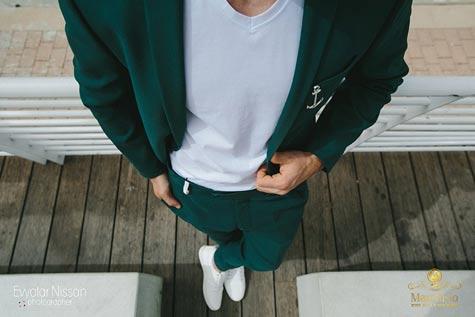 חליפת חתן בצבע ירוק זית
