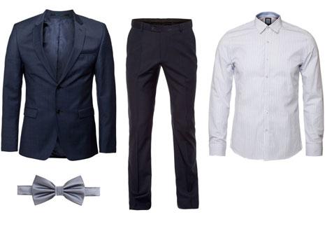 חליפת לחתן ספורטיבי בגווני כחול ולבן