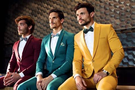 חליפות חתן בצבעים נועזים