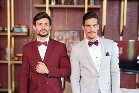 suinew-x חליפות חתן קיץ 2018: נוטפות סקסיות צבעונית, groom-suits, תמונה 70