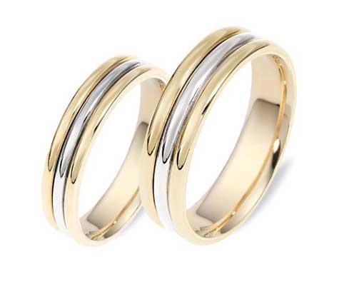 טבעות נישואין 2 צבעים ג'קסון