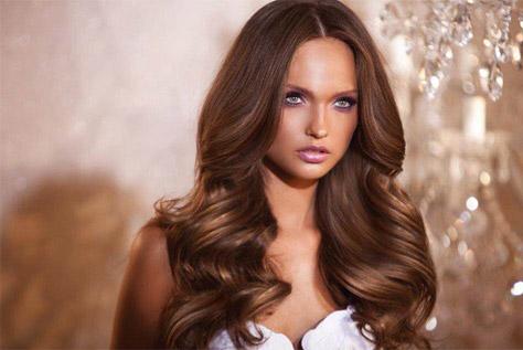 צבע שיער חום טבעי