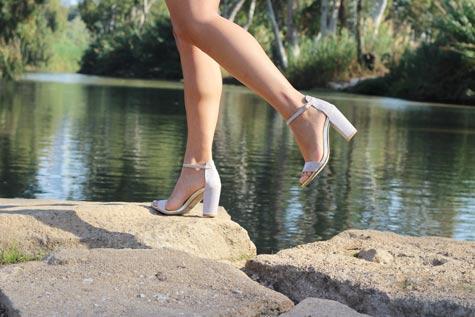 נעלי כלה גבוהות עם עקבים מרובים