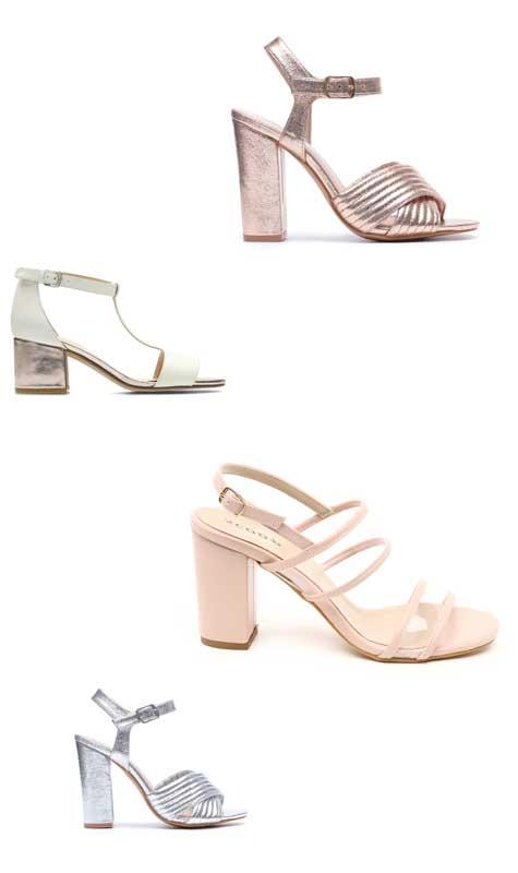 נעלי כלה עם עקב מרובע ויציב