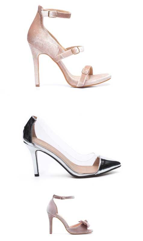 נעלי כלה עם עקבים גבוהים ודקים
