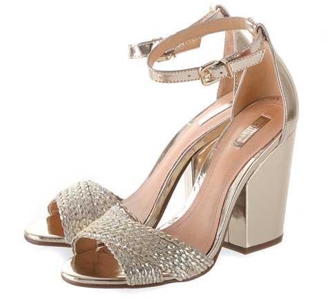 נעלי כלה מוזהבות -נעלי SHOEZ  צילום: יוסי מור