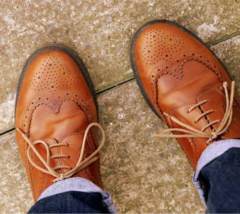 נעלי חתן מעור