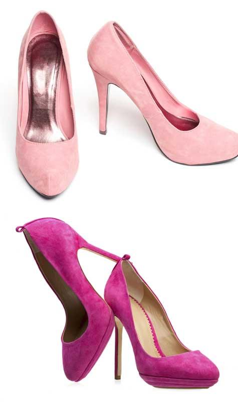 נעלי כלה ורודות