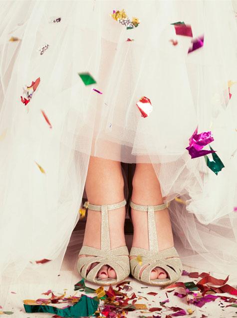 נעלי כלה על עקב בצבע לבן