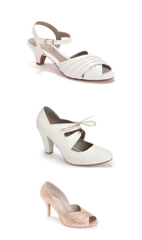 נעלי כלות בצבע לבן