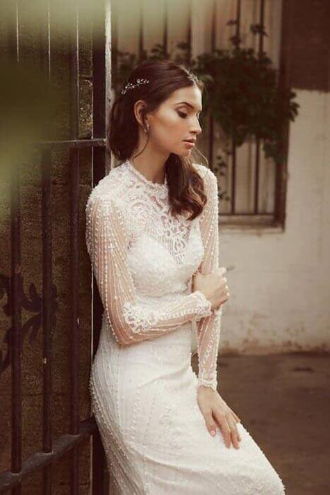 שמלת כלה עם שרוולים ארוכים