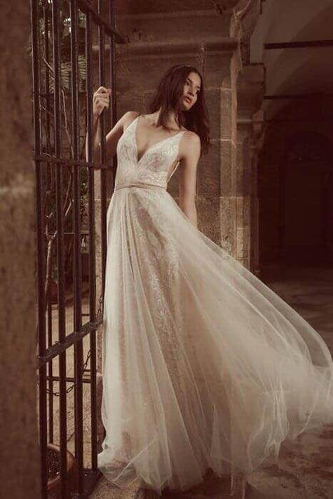 שמלת כלה עם טול רומנטי