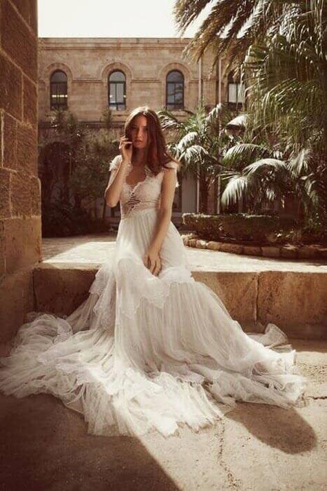 שמלת כלה אווירירית וקלילה