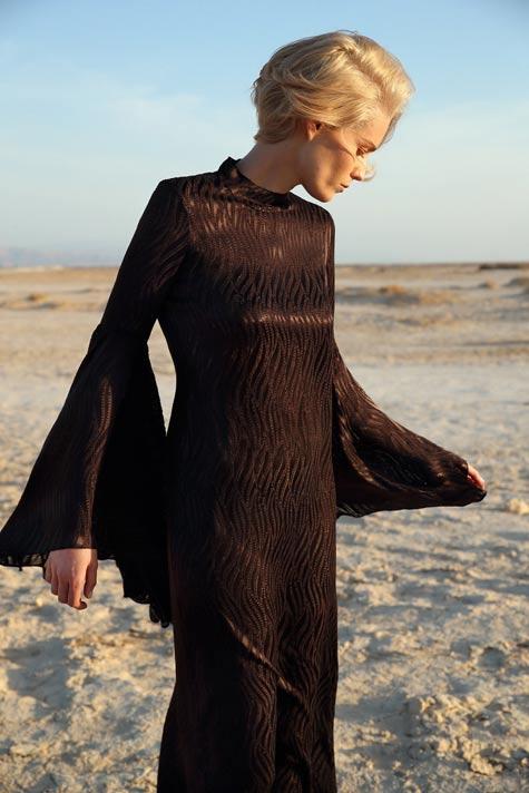 שמלת ערב שחורה - משכית