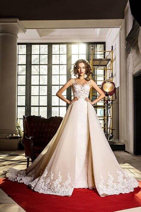 שמלת כלה עם חצאית נשלפת