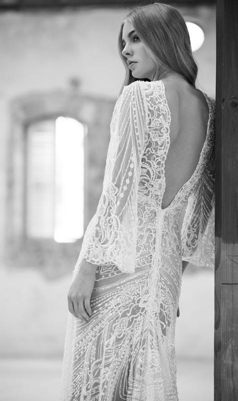 שמלת כלה או שמלת שושבינה - מבט מאחור