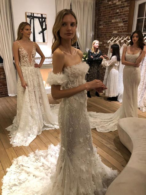 שמלות כלה מתצוגת ניו יורק