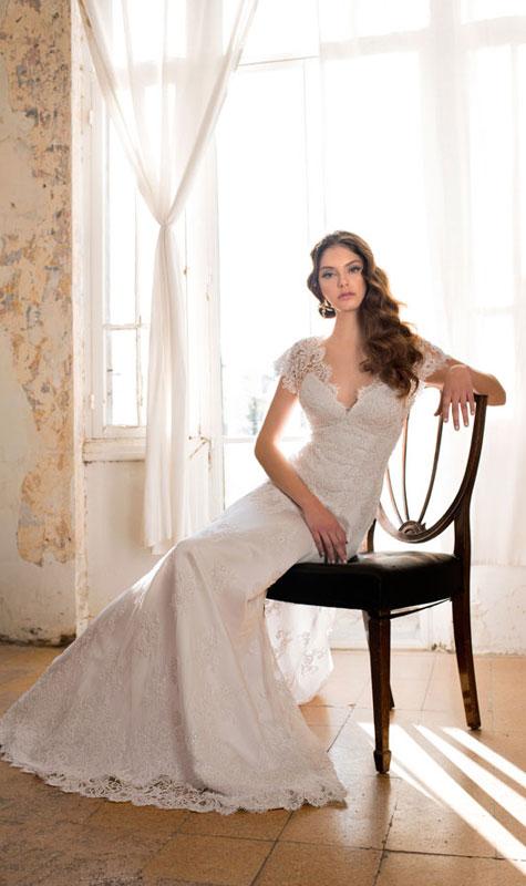 שמלת כלה במראה רומנטי