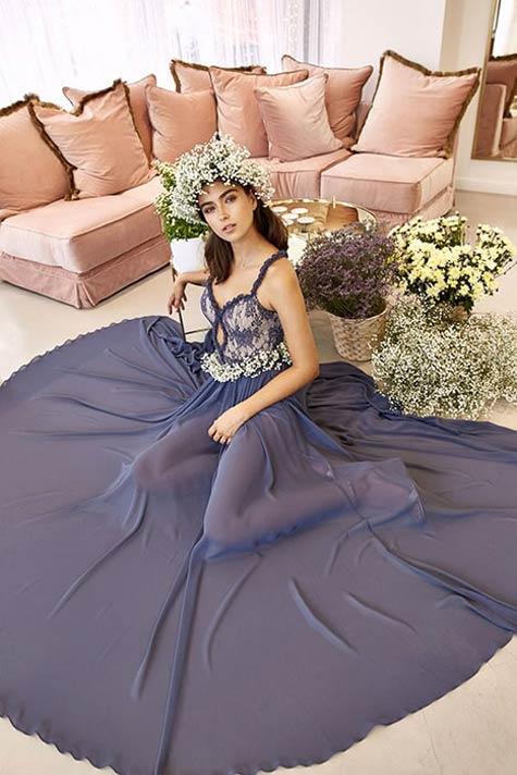 שמלת ערב מרשימה