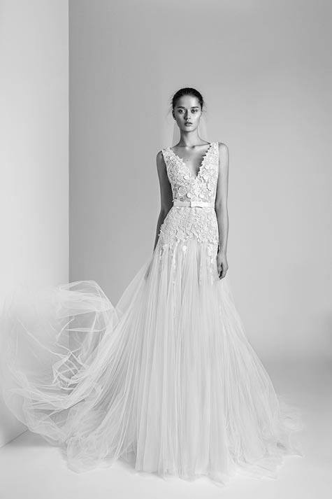 שמלת כלה כתפיות וטול