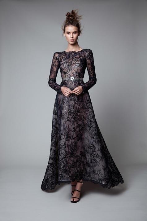 שמלת ערב עם נוכחות