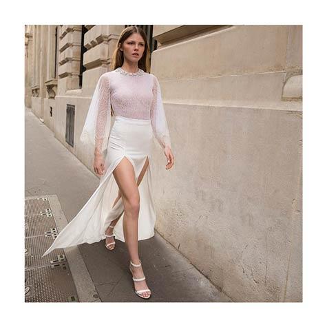 שמלת כלה סקסית בעלת שסעים