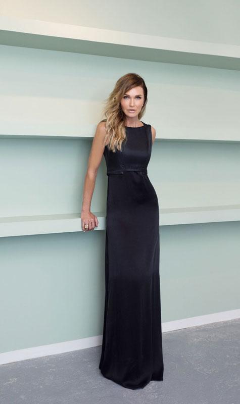 שמלת ערב צמודה שחורה