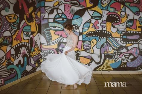 שמלת כלה מיוחדת, צילום: מאמה צילומים