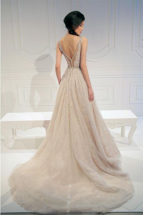 שמלת כלה בעיצובה של גליה להב