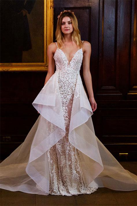 שמלת כלה גאומטרית