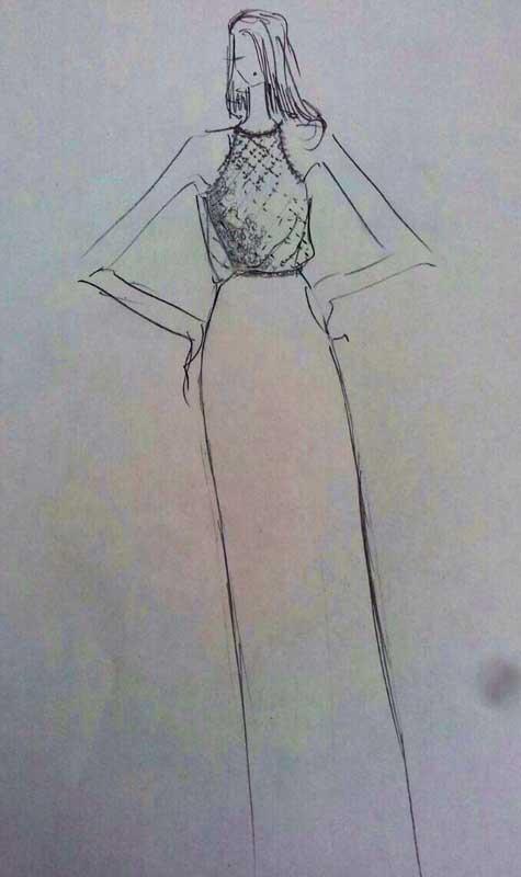שמלות כלה 2015, הצצה לסקיצה