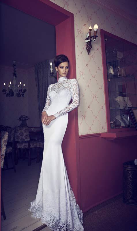 שמלת כלה בעיצוב ריקי דלאל. צילום: אלכס ליפקין